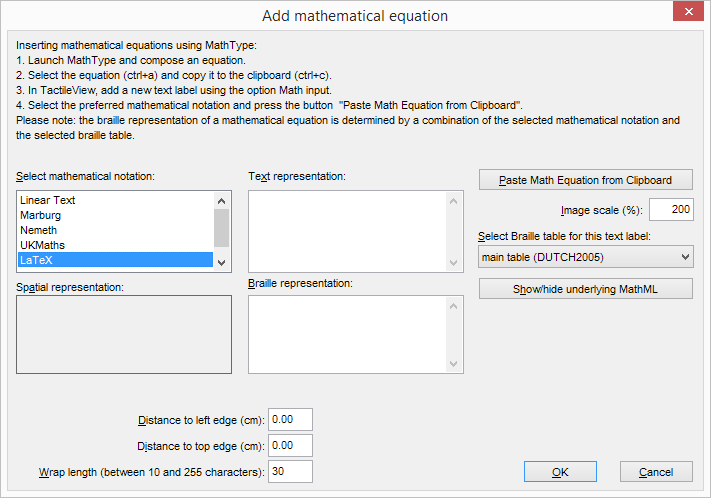 Add custom graph: equation editor dialog