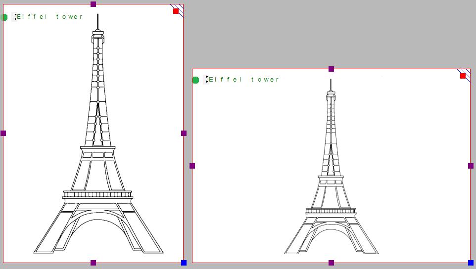 Size comparison of portrait versus landscape designs