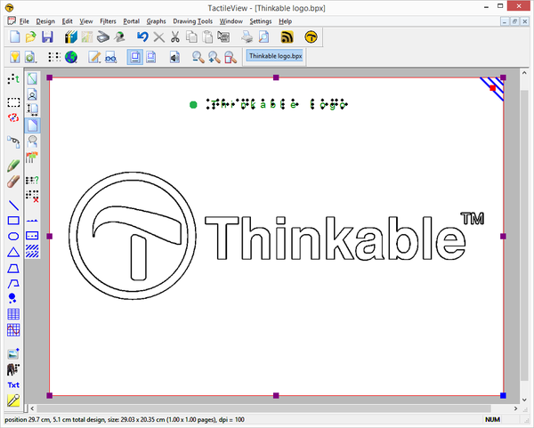 Thinkable logo in TactileView