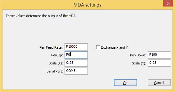 MDA settings