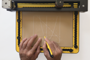Graph sketched on the TactiPad by the MDA