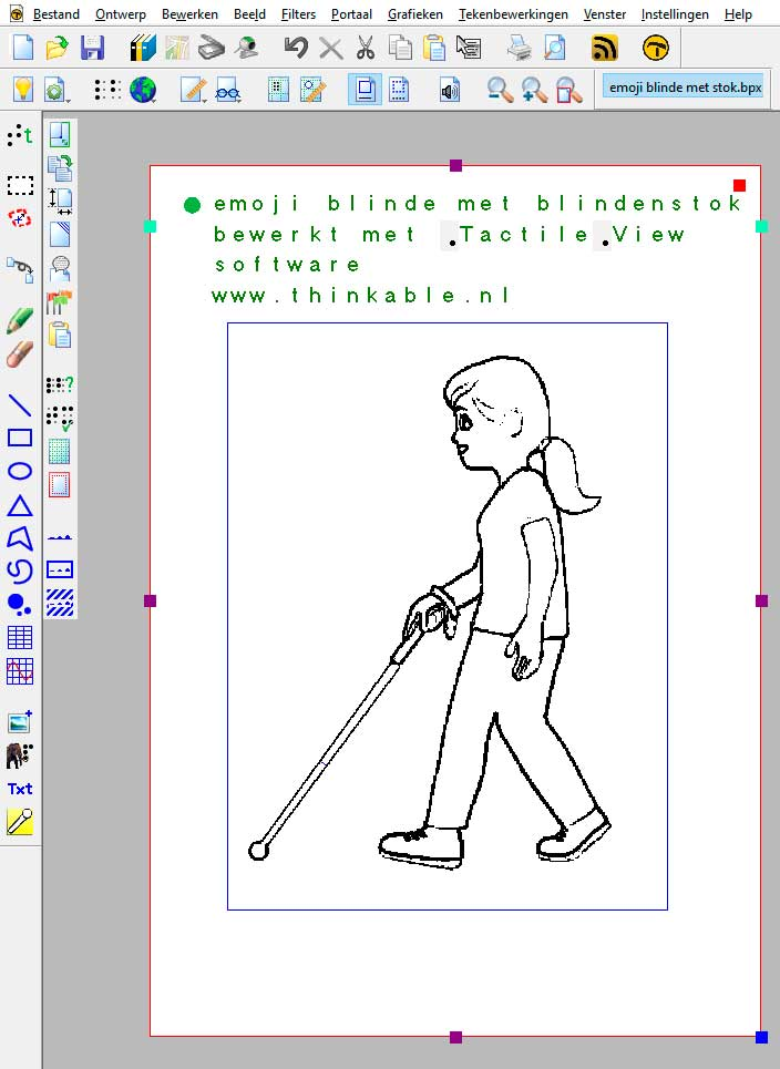 Emoji of blind person with cane