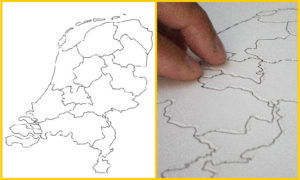 Touch around the globe, map of the Netherlands