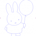 Miffy with balloon